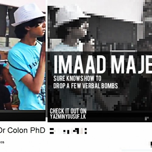 Imaad Majeed Raps And Here's Footage