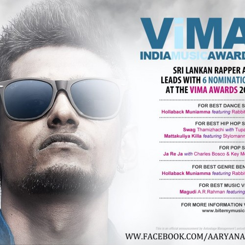 Aaryan Dinesh K & Nevi'im Make It Into The Final List Of The 1st VIMA INDIA Music Awards