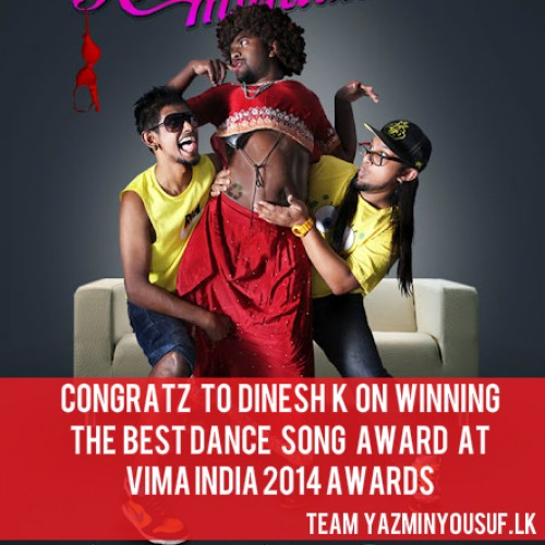 "Congratz To Dinesh K On Bagging ""The Best Dance Song Award"" At VIMA India"