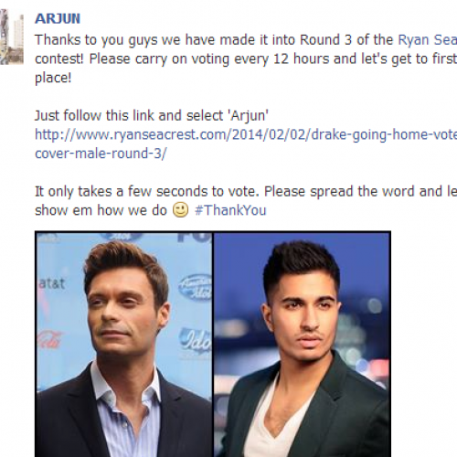 Vote For Arjun Cuz He's At Round 3