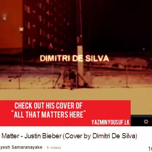 Dimitri De Silva – All That Matters (Cover)