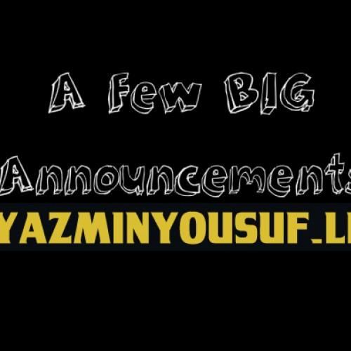 Two Big Announcements-Iraj & Jayasri