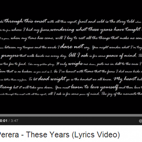 Asela Perera – These Years (Lyrics Video)