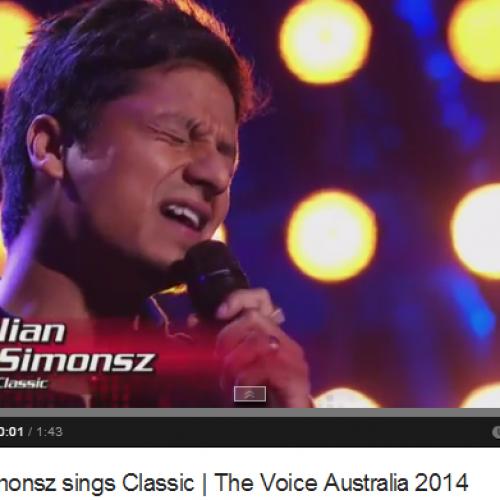 Julian Simonsz sings Classic | The Voice Australia 2014