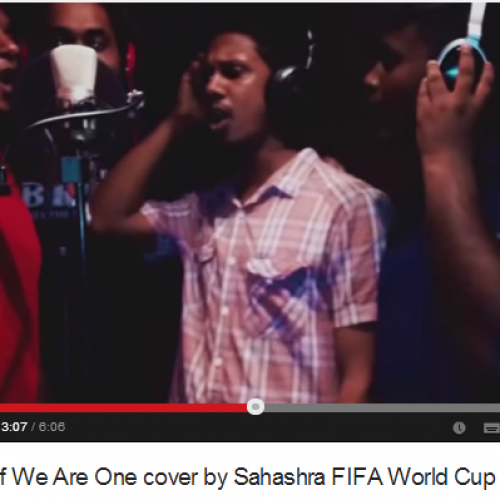 Making Of We Are One Cover By Sahashra FIFA World Cup 2014