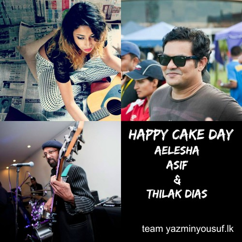 Happy Cake Day Aelesha, Asif & Thilak