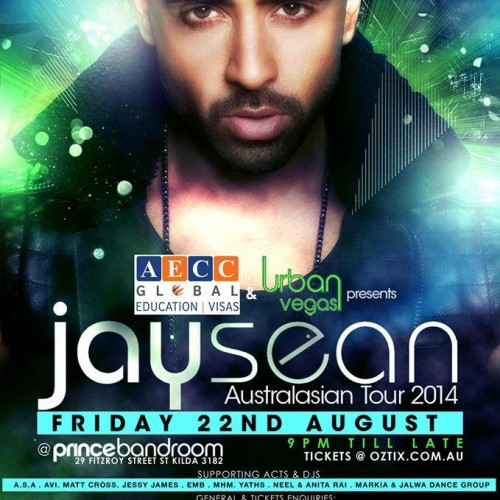 Markia To Be Supporting Jay Sean *Updated