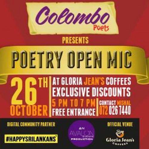 Colombo Poets Presents: Poetry Open Mic
