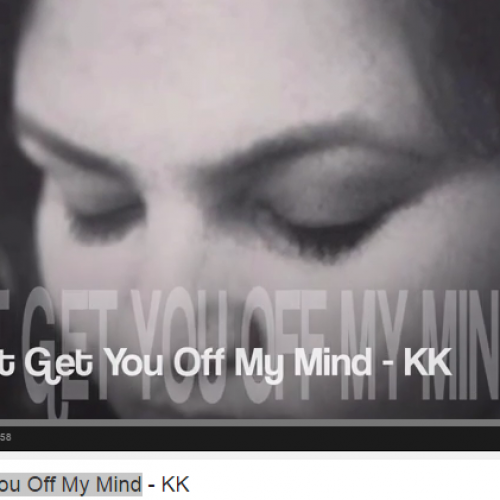 KK: Can't Get You Off My Mind