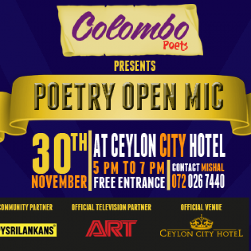 Colombo Poets Presents Poetry Open Mic