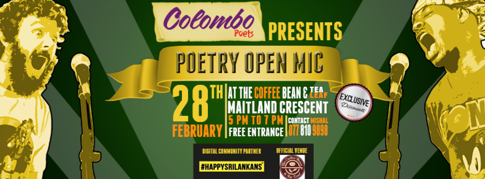 Colombo Poets Presents: Poetry Open Mic February Edition!