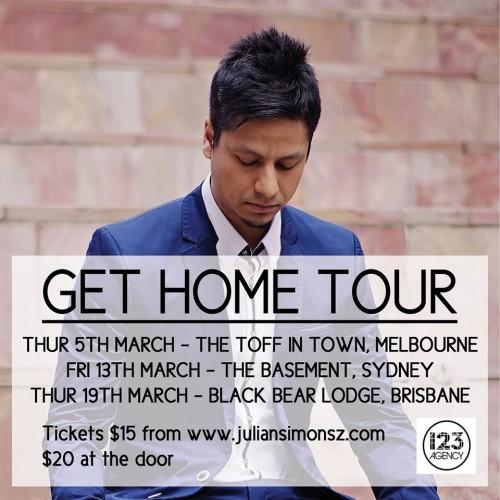Julian Simonsz: Get Home Tour