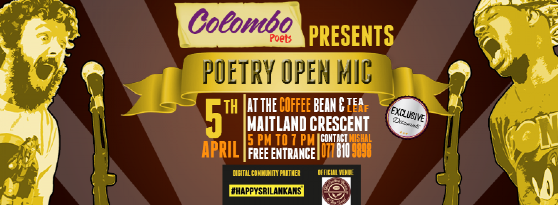 Colombo Poets Presents: Poetry Open Mic [April]