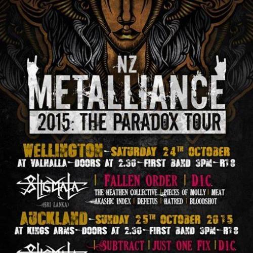 Stigmata Announces : Metalliance New Zealand 2015: The Paradox Tour