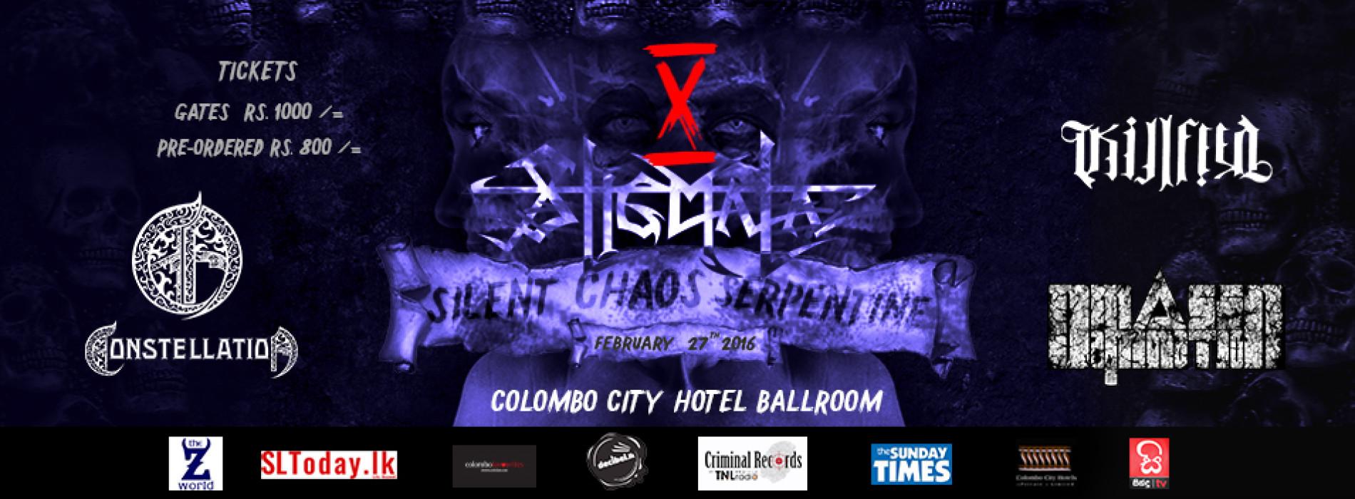 Stigmata Live : SILENT CHAOS SERPENTINE 10 Year Anniversary Concert