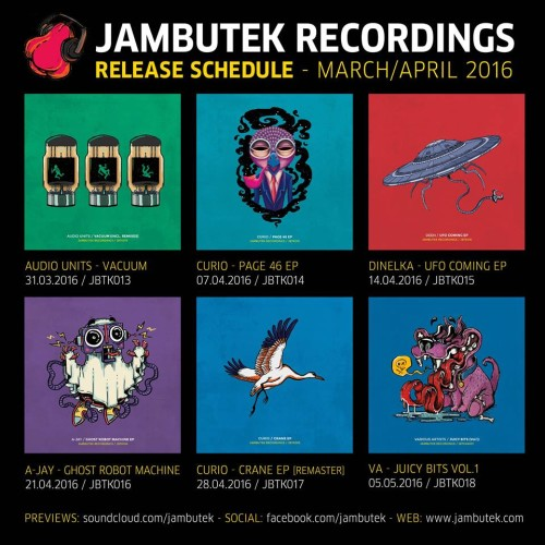 Jambutek Releases For March & April 2016