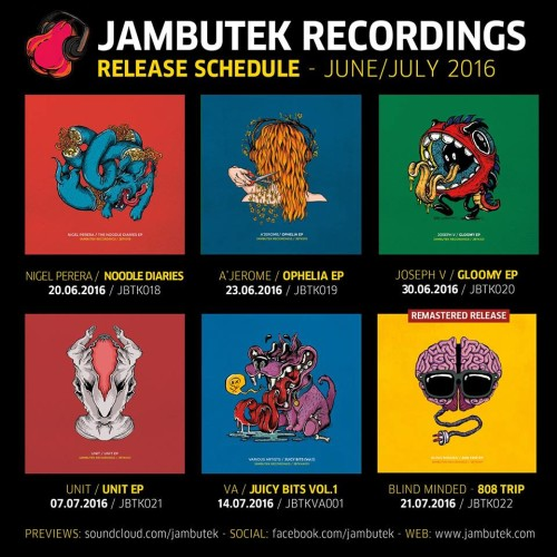 Jambutek Recordings Announce More New Releases