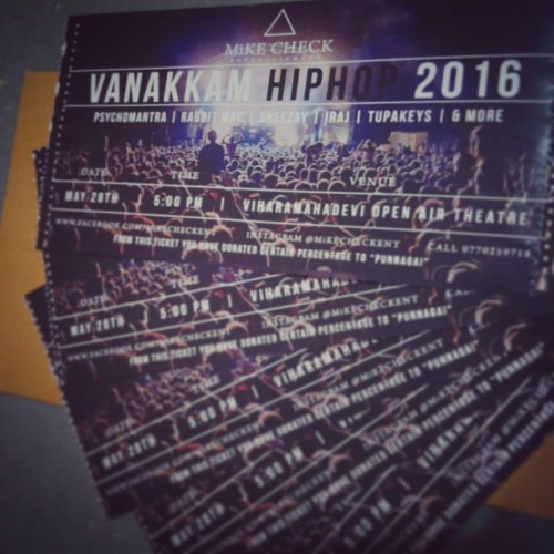 Tickets For #VanakkamHipHop Now On Sale