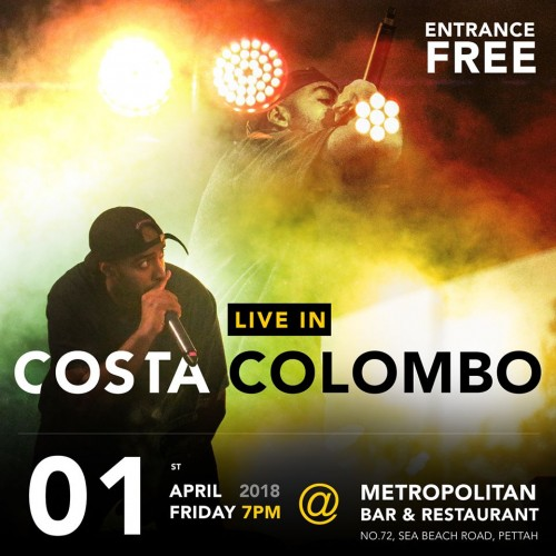 Rapper Costa Has A Show On The 1st Of April