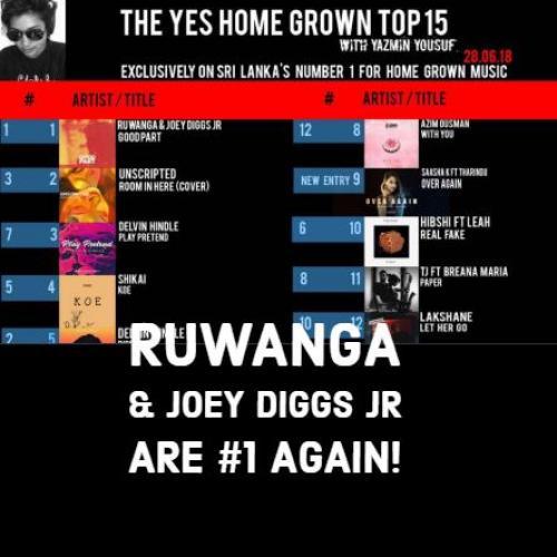 Ruwanga & Joey Diggs Jr Are Number 1 Again!