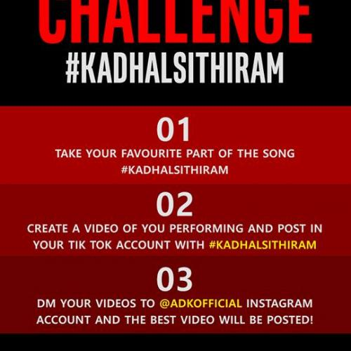 ADK Is A Brand Ambassador For Dialog & Announces A Tik Tok Challenge For Kadhalsithiram