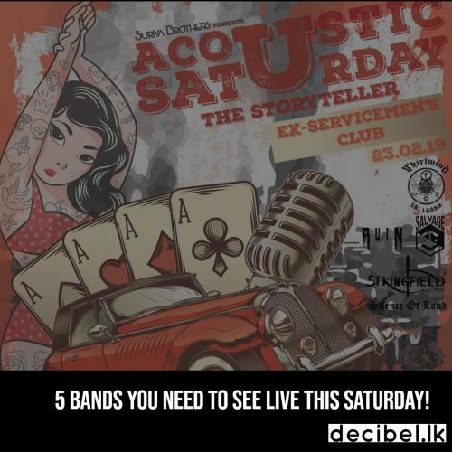 5 Bands You Need To See Live This Saturday!