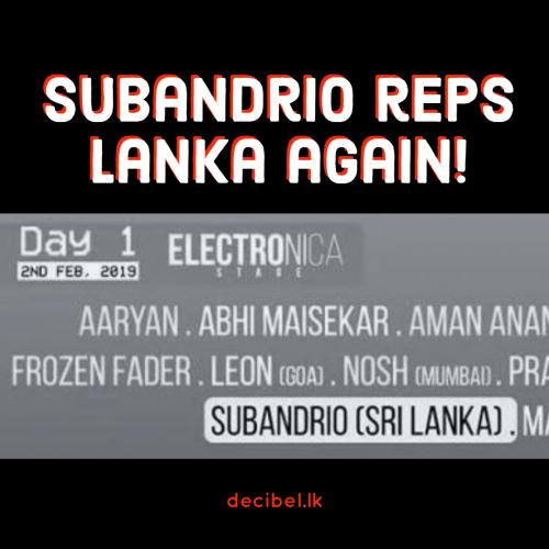 Subandrio To Rep Lanka In India This Weekend!