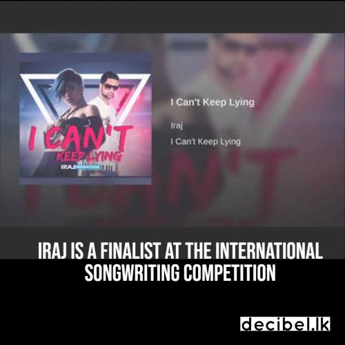 Iraj Is A Finalist At The International Songwriting Competition