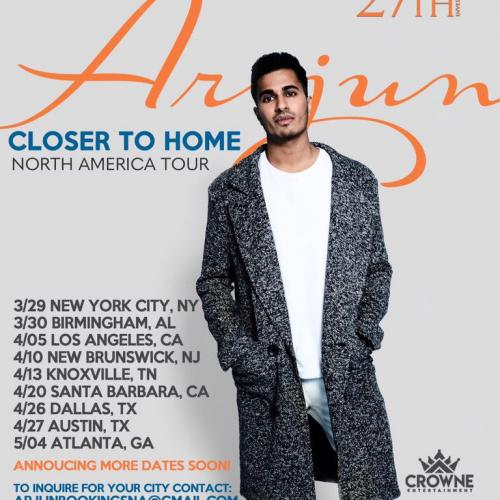 Arjun Is Gonna Be Touring North America