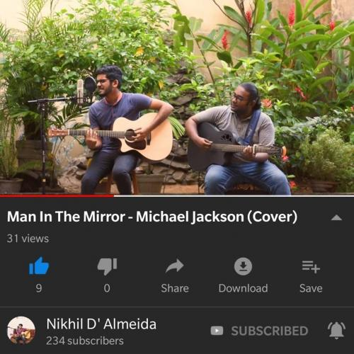 Nikhil D' Almeida – Man In The Mirror – Michael Jackson (Cover)