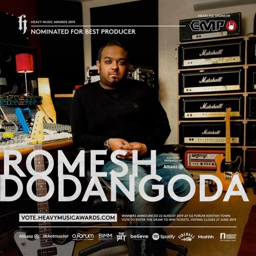 Romesh Dodangoda Is Nominated At This Years Heavy Music Awards!