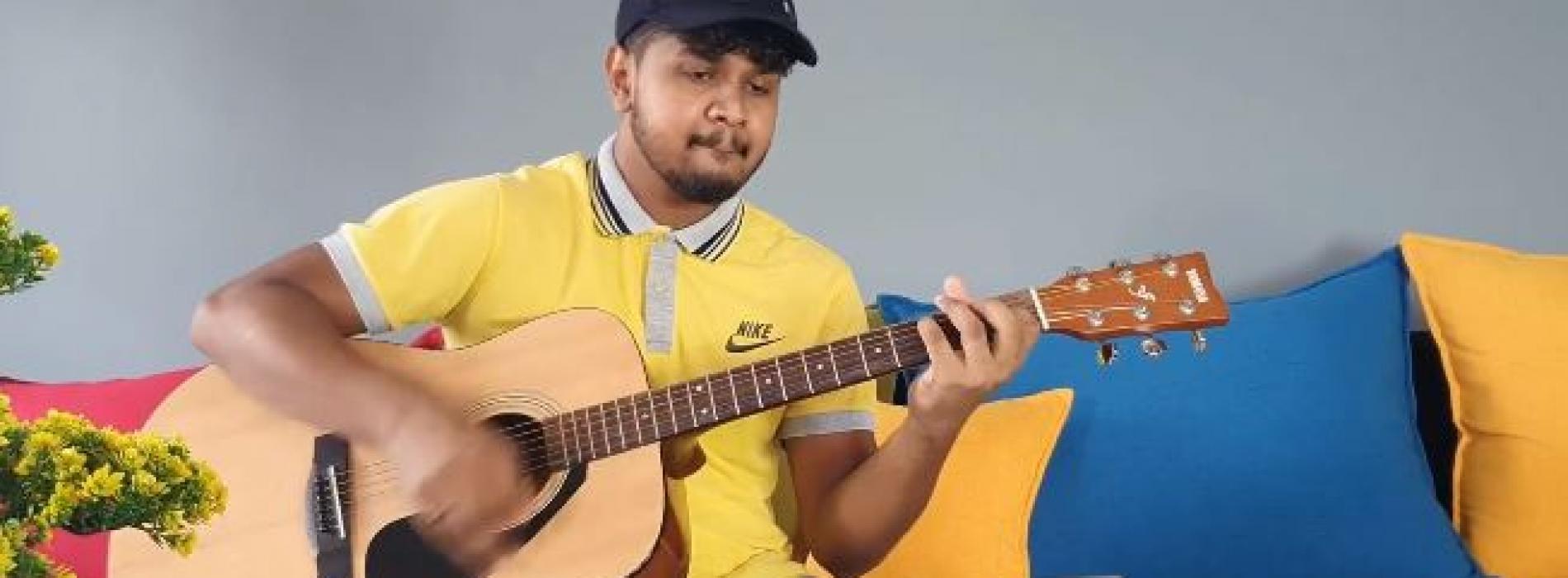 Sahan Liyanage | Sandaganawa (Dhanith Sri) Acoustic Guitar Cover