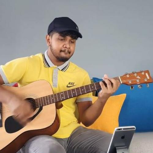 Sahan Liyanage | Sandaganawa (Dhanith Sri) Acoustic Guitar Cover