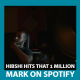 Hibshi Hits His First Million On Spotify!