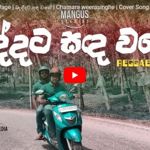 Baddata Sanda Wage | බැද්දට සඳ වගේ | Chamara weerasinghe | Cover Song | Mangus Reggae Cover