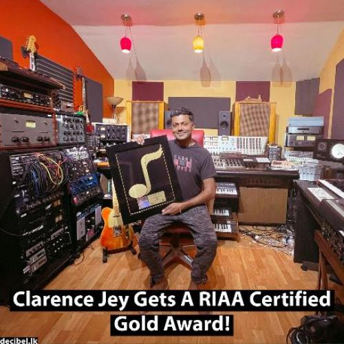News : Clarence Jey Gets A RIAA Certified Gold Award!